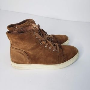 Ralph Lauren Suede Hi Top Sneakers Winnefred